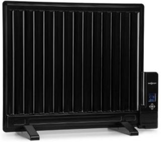 Wallander oljefyllt element 600W termostat element ultraplatt svart