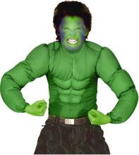 Hulken - Grønn Muskeldrakt til Barn