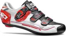 Sidi Genius 7 Road Shoes - White/Black/Red - EU 46 - White/Black/Red