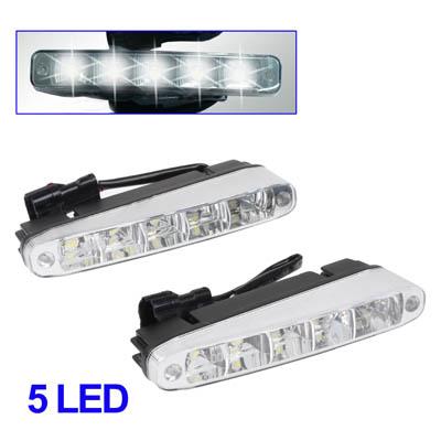 Universell Hvit 5 LED kjørelys