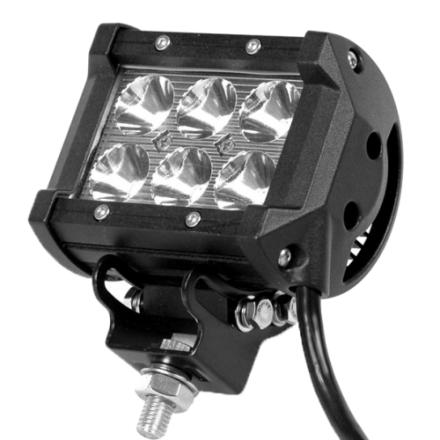 18W CREE Extralys til bil/båt/MC/traktor osv, 6 LED DC 10-30V