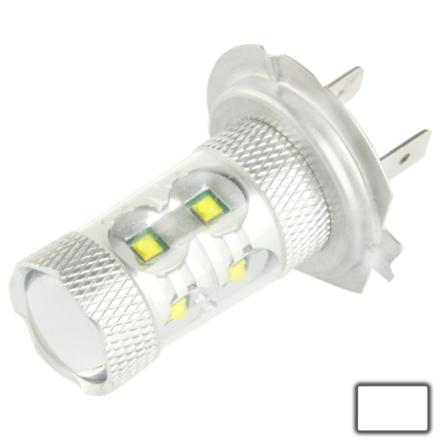 H7 60W hvit 12 CREE LED Tåkelys, DC 12-30V