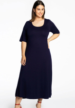 Long dress short sleeve VI/EA 42/44 (42/44) blue (230)