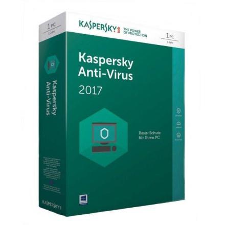 Kaspersky Antivirus 2017 1PC 1ÅR-Antivirusprogram
