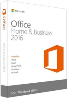 Microsoft Office 2016 Home and Business-Officepaket (SVE/ENG)