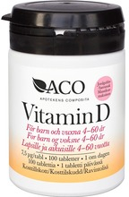 ACO Vitamin D, 7,5 ug 100 st