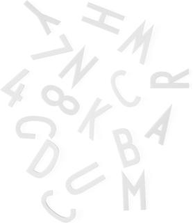Design Letters - Design Letters Bokstaver 50mm 132 Deler, Hvit