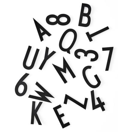 Design Letters - Design Letters Bokstaver 50mm 132 Deler, Sort