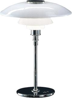 Louis Poulsen - PH 4 1/2-3 1/2 Glas Bordlampe, hvidt opalglas