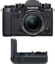 Fujifilm X-T3 + 18-55/2,8-4 Svart + VG-XT3, Fujifilm
