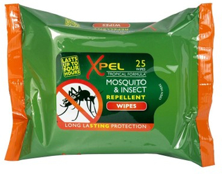 Xpel Mosquito & Insect Repellent Wipes 25 stk