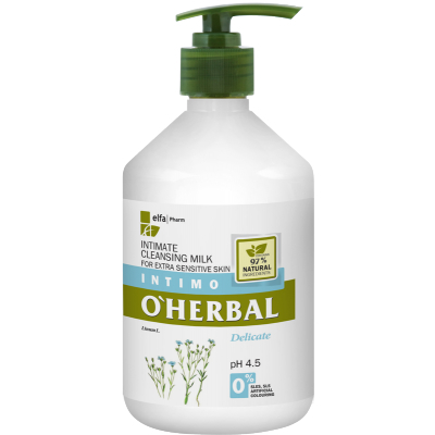 O'Herbal Intimate Cleansing Milk Delicate Extra Sensitive 500 ml
