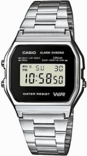 Casio A158WEA-1EF Klokker Sølv