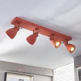 LED-taklampa Kadiga i rött, fyra ljuskällor