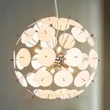 LED hänglampa Lyrien med plastelement