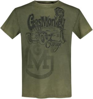 Gas Monkey Garage - Hot Rod Garage - T-shirt - grön