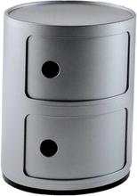 Kartell - Componibili Oppbevaring 2 Rom, Sølv