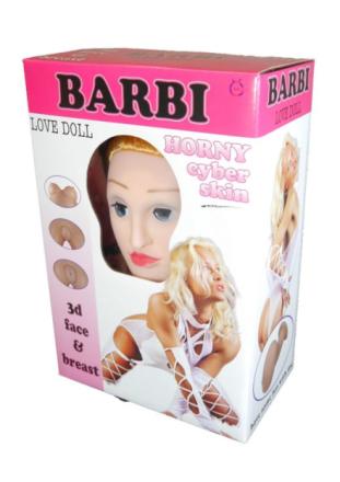 Dmuchana Lalka Barbi 3D 2 Otwory Realistyczna