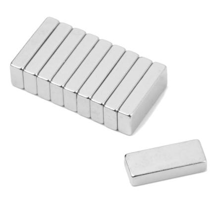 Neodym blokk magnet 10 x 4 x 2 mm
