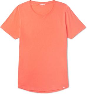 Ob-t Slim-fit Cotton-jersey T-shirt - Orange