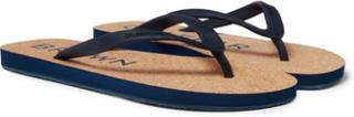 Haston Rubber And Cork Flip Flops - Navy