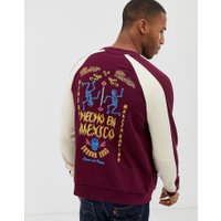 ASOS DESIGN jersey bomber jacket with mexico embroidered back design - Port royale