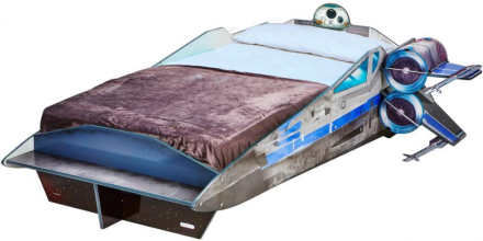 Star Wars X-wing seng med madras - Star Wars børneseng 658529 - Eurotoys