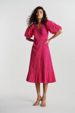 Ella linen wrap dress