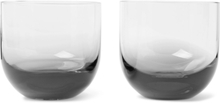 Tank Set Of Two Dégradé Whisky Glasses - Black