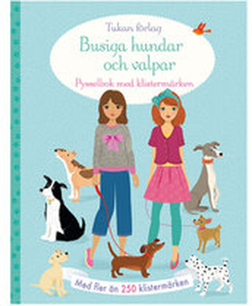 Pysselbok med klistermärken, Busiga hundar och valpar