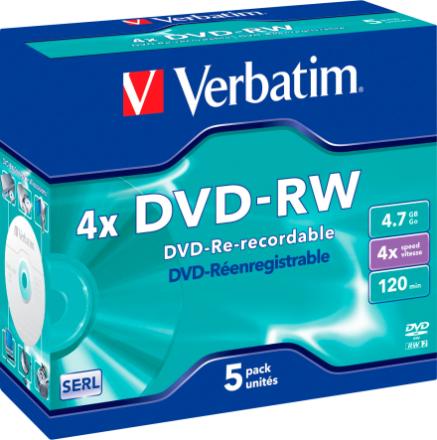 Verbatim DVD-RW 5-pack (JewelCase)