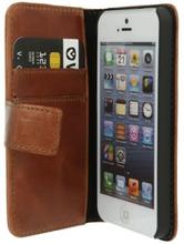 Valenta Plånboksfodral i läder, iPhone SE/5S/5, Brun 5891010 Replace: N/AValenta Plånboksfodral i läder, iPhone SE/5S/5, Brun