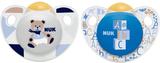 NUKNapp, Trendline, Strl 1, Latex, 2-pack, Blå/grå