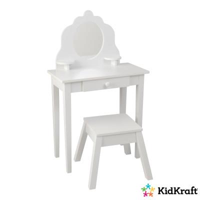 Sminkbord med Pall KidKraft Vit Medium