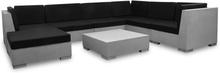 vidaXL haveloungesæt 8 dele med hynder beton grå