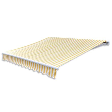 vidaXL foldemarkise 300 cm gul og hvid