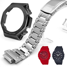For GA2100 Watch Band Strap Bezel/Case 316L Stainless Steel Metal Steel Belt With Tools Wholesale Watchband GA-2100 GA2110