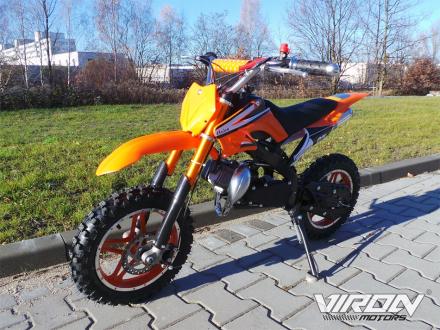 Dirtbike Enduro - Pocket bike cross motorsykkel - 49cc -oransje