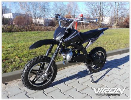 Dirtbike Enduro - Pocket bike cross motorsykkel - 49cc -sort