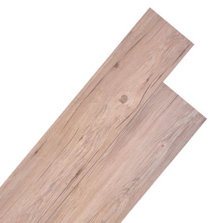 vidaXL PVC-gulvplanker 5,26 m² egetræ brun