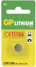 GP BATTERIES GP CR 1/3N-C1 - 3V/160mAh GP-CR11108 Replace: N/AGP BATTERIES GP CR 1/3N-C1 - 3V/160mAh