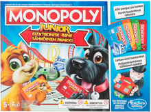 Hasbro Monopoly Junior Elektronisk Bank (Svensk Version)