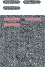 Glidremsor, grå tassar Twinner, 18 st
