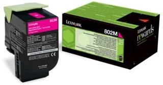 Lexmark Lexmark 802M Tonerkassett magenta, 1.000 sider