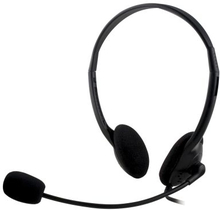 DELTACO DELTACO, headset med mikrofon og volumekontrol 2m ledning