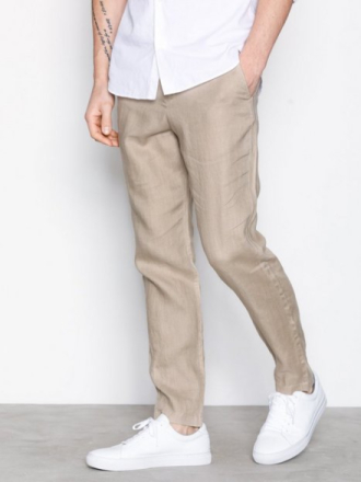 Selected Homme Shdtaperedlino Trouser Housut Beige