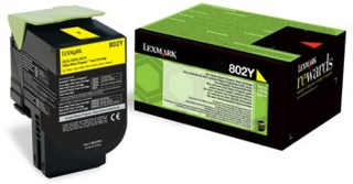 Lexmark Lexmark 802Y Tonerkassett gul, 1.000 sider
