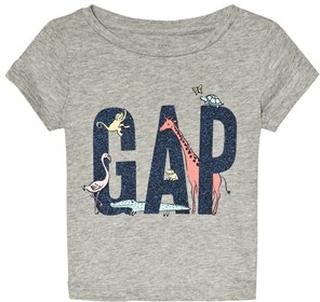 GAP Gap Logo Kortärmad T-Shirt Grå 5 år