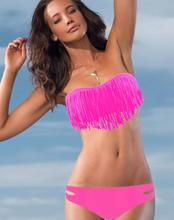 Bikini med frynser - Rosa S,M,L