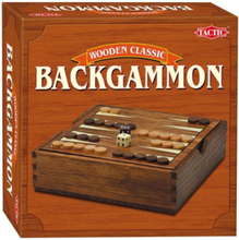 Classic Backgammon - small wooden